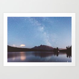 Two Jack Lake Milky Way Art Print