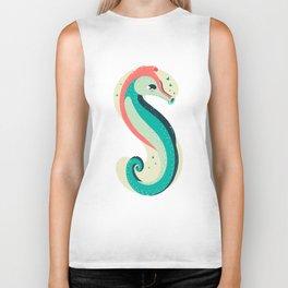 S for Seahorse Biker Tank