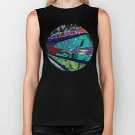 Peacock Mermaid Battlestar Galactica Abstract Biker Tank