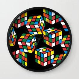 rubik cube pattern Wall Clock