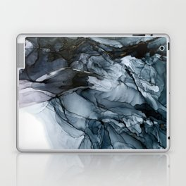 Dark Payne's Grey Flowing Abstract Painting Laptop & iPad Skin