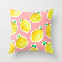 Lemon Crush 2 Throw Pillow