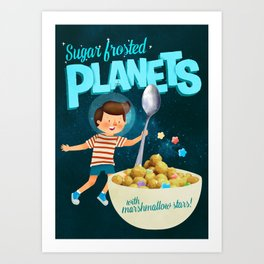 Sugar Frosted Planets Art Print