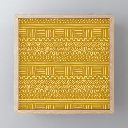 Mud Cloth on Mustard Framed Mini Art Print