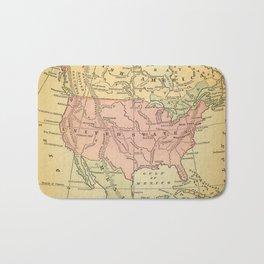 North America Vintage Map Bath Mat