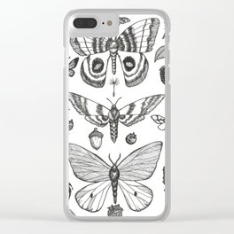 Natural History (Black) Clear iPhone Case