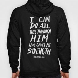 Philippians 4: 13 x Mint Hoody