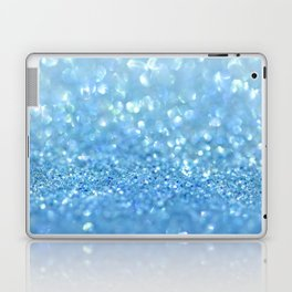 Sparkling Baby Sky Blue Glitter Effect Laptop & iPad Skin