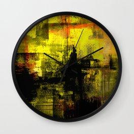 Sail Away - Abstract painting of a boat sailing into the horizon Wall Clock
