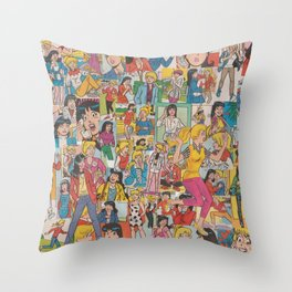 Betty and Veronica Collage Throw Pillow
