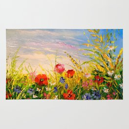Field and flowers Rug