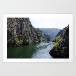 Matka Canyon, Macedonia Art Print