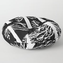 Araucarias Blancas Floor Pillow