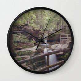 Sabbaday Falls Landscape Wall Clock