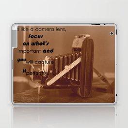 Life Is Like A Camera Lens Laptop & iPad Skin