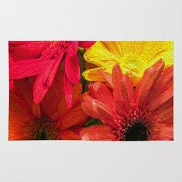 Sunny Daisy Flower Art Rug