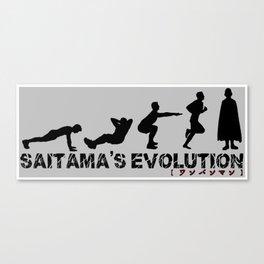Saitama's Evolution Canvas Print