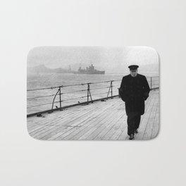 Winston Churchill At Sea Bath Mat