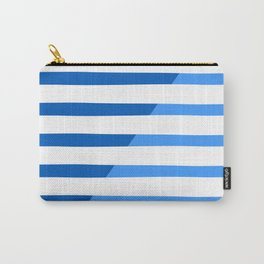 Beach Stripes Blue Carry-All Pouch