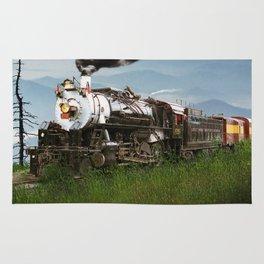 Smokey Mountain Railway Steam Locomotive Rug