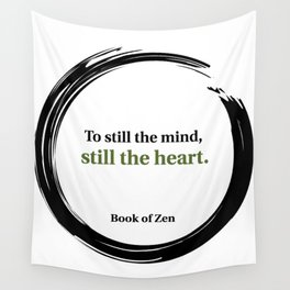 Inspirational Peace and Serenity Quote Wall Tapestry