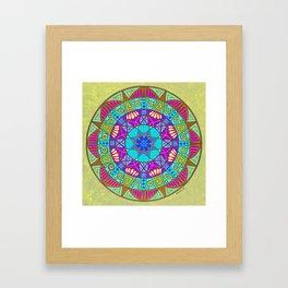 Water Clearing Mandala Framed Art Print