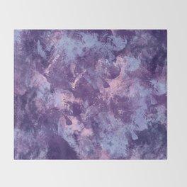 Purple texture Throw Blanket