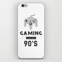 Gaming Since the 90's (Version 2) iPhone Skin