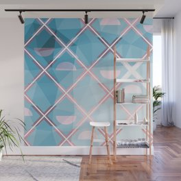 Abstract Triangulated XOX Design Wall Mural