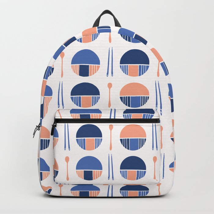 Oriental Table Setting Silhouettes Backpack