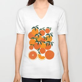 Orange Harvest - White Unisex V-Neck