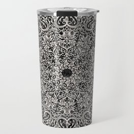 MANDALA ON BLACK MARBLE Travel Mug