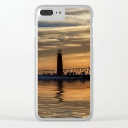 The Pier at Grand Haven Clear iPhone Case