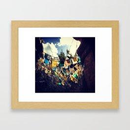 Flags of a different world. Framed Art Print