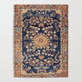 Sarouk Persian Floral Rug Print Poster