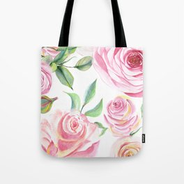 Roses Water Collage Tote Bag