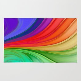 Abstract Rainbow Background Rug