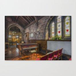 Church Piano Canvas Print