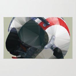 Tag Heuer Steve McQueen Cafe Racer Helmet Polygon Art Rug