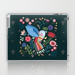 Folk Art Inspired Hummingbird With A Flurry Of Flowers Laptop & iPad Skin
