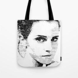Emma Watson Typography Tote Bag