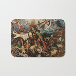 Pieter Bruegel the Elder The Fall of the Rebel Angels Bath Mat