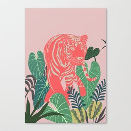 Aloha Tiger, Tiger print, Animal print, jungle print Canvas Print