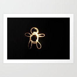 light drawing Art Print