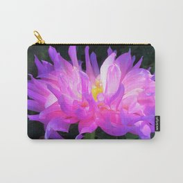 Stunning Pink and Purple Cactus Dahlia Carry-All Pouch