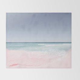 Pastel ocean waves Throw Blanket