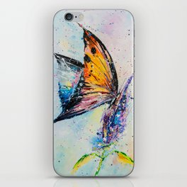 Butterfly on fiower iPhone Skin
