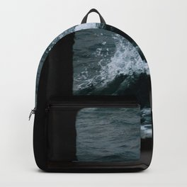 Wave out of a window of a ship – Minimalist Oceanscape Backpack