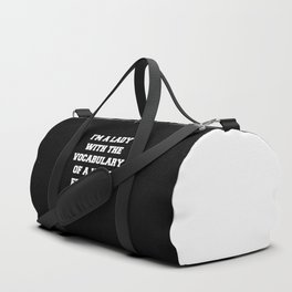 Well Educated Sailor Funny Quote Duffle Bag