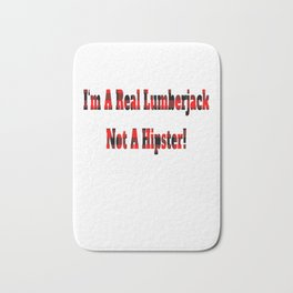 No Hipster – Lumberjack Quote Bath Mat